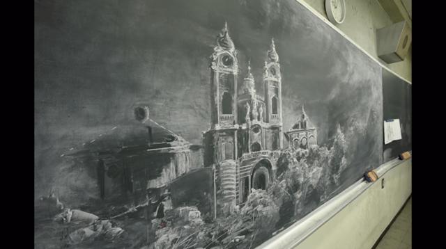 『アナ雪』黒板アートで話題の女子高生 × 宮部みゆき『過ぎ去りし王国の城』イメージビデオ完成! music150326_oukoku_2