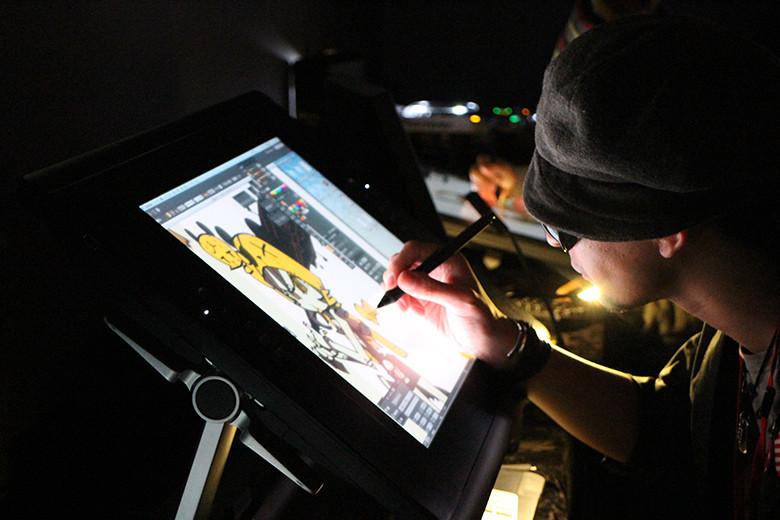 デジタルライブペイント&物販<CRECON Vol.003>大阪・日本橋で開催! art150427_crecon_2-780x520