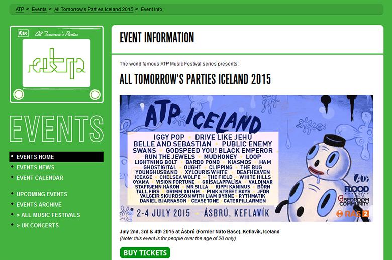 北欧の自然とインディーロックの真髄を味わえるフェスとは music150817_atp_lineup