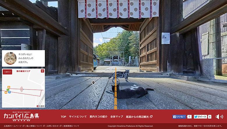 猫目線のストリートビュー開始!広島・尾道の看板ネコに癒される technology150914_catstreetview_05