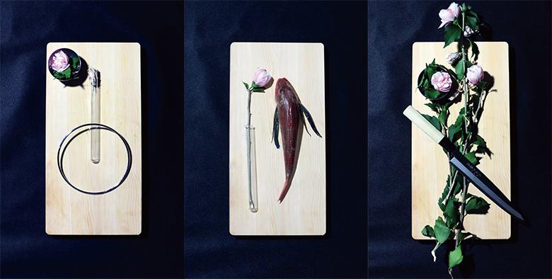 Seiho主催「イカ」と「生け花」を展示するクラブイベント art160119_seiho_4