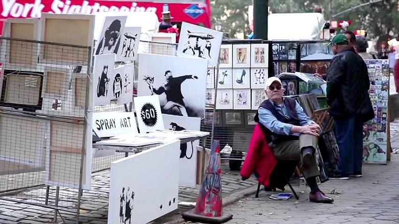 バンクシー、狂乱の1ヶ月に密着したドキュメンタリー公開 film160120_banksy_1