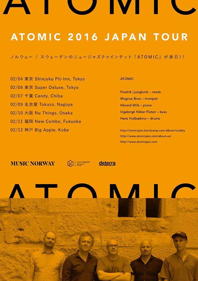 北欧ジャズの代名詞、アトミックが8年ぶりの来日決定! music160122_atomic_flyer