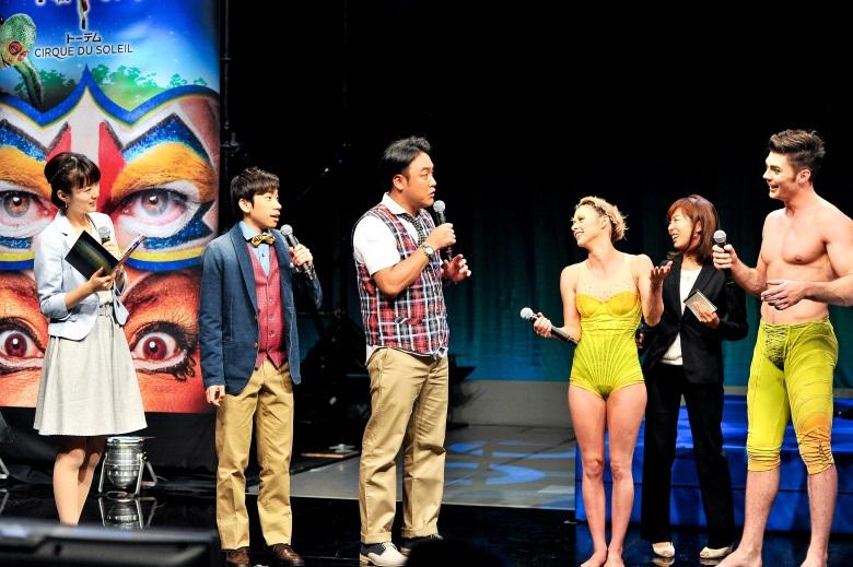 シルク・ドゥ・ソレイユ最新作『トーテム』PR部隊に信成JAPAN! totem_prtai1_780