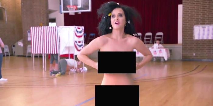 ケイティ・ペリー、ヌード姿の動画公開!全裸でアメリカ大統領選への参加呼びかけ Katy-Perry-700x350