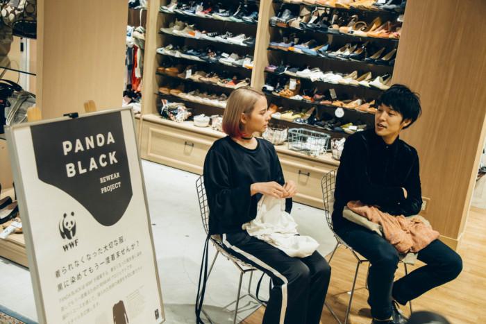 『テラスハウス』半田悠人&大畑ありさが語る「PANDA BLACK REWEAR PROJECT」とリユースの大切さとは F7Q5020-700x467