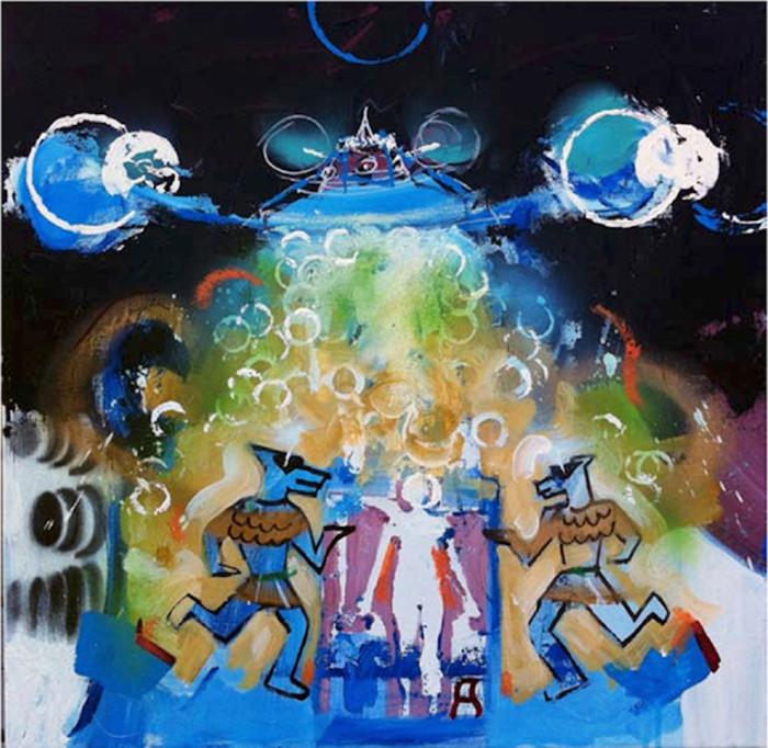 Pファンクをテーマに日米アーティスト40組の作品が集合!ジョージ・クリントンの作品も!