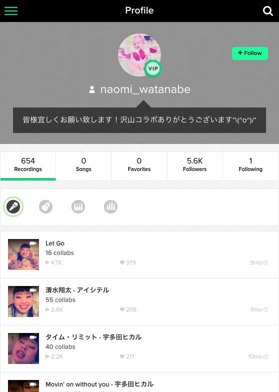 渡辺直美が今ハマっている音楽アプリ「Sing! カラオケ」が話題!DLランキングも急上昇中! naomi_watanabe_Profile_Smule