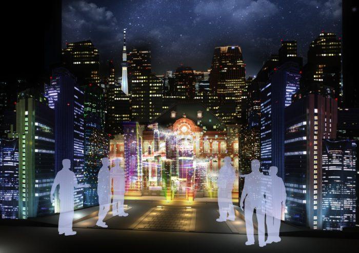 """伝説の東京駅&ジャンボジェット3Dプロジェクションマッピングがよみがえる!?""""都市""""のアート展開催! Ar161220_TOKYO-ART-CITY-by-NAKED_5-700x495"""