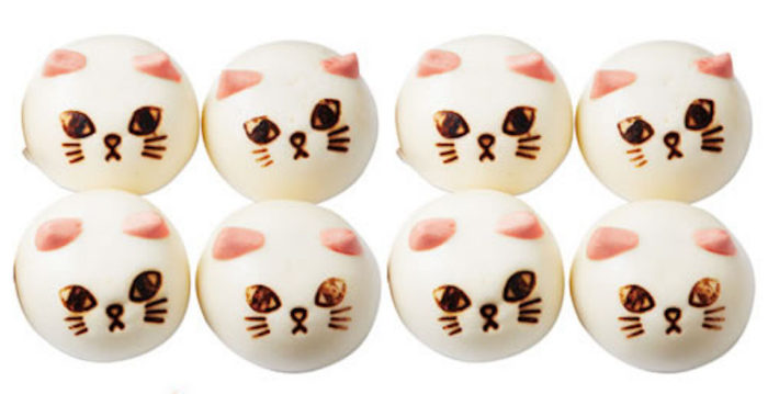 猫好き必見!猫の形の中華まん「ニャムチャ」シリーズに、ふんわかボディーの「肉まん」が新登場! food170123_nekobu_2-700x359