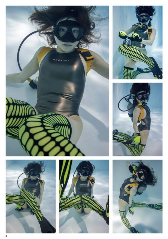今月の『水中ニーソR』は、ガンメタ水着&メッシュニーハイ!美女モデル×グラビアポエムも! Ar170215-suichukneeso_7-700x995