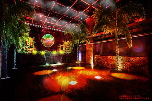 中田クルミ、Tomggg、PARKGOLFら出演!<Tropical Disco>はクラブなのに異空間!?⽔原佑果&NYLONコラボ新ビジュアルも公開 TropicalDisco_interior