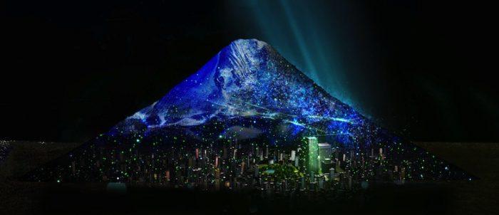 六本木に富士山が出現!高さ6m幅23mの巨大プロジェクションマッピング「JAPAN, THE BEAUTIFUL」 Ar170317_tokyomidtown_3-700x302