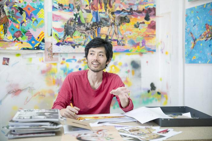 【インタビュー】アーティスト長尾洋がコラージュに映し出す人間のルーツ km-post59__DSC3282-700x467
