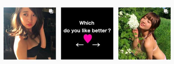 可愛すぎてどちらか選べない!スパガ渡邉幸愛がインスタで究極の選択を強いる art170810_koumewatanabe_2-700x258