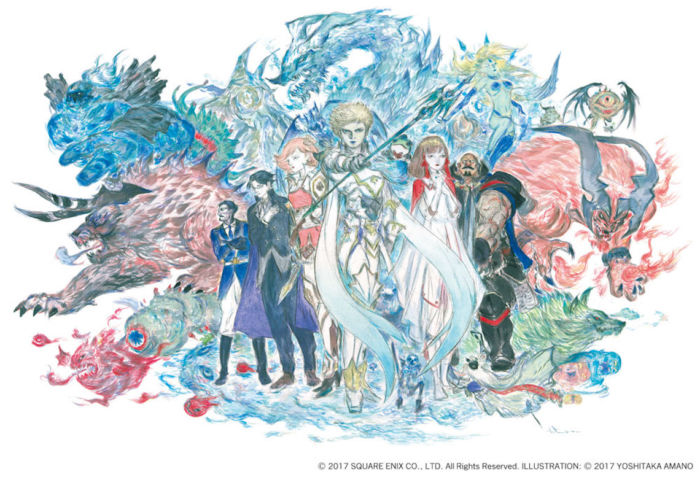 天野喜孝描き下ろしキービジュアル公開。新作RPG『ファイナルファンタジー エクスプローラーズ フォース』 FFEXF_KeyVisual-700x477
