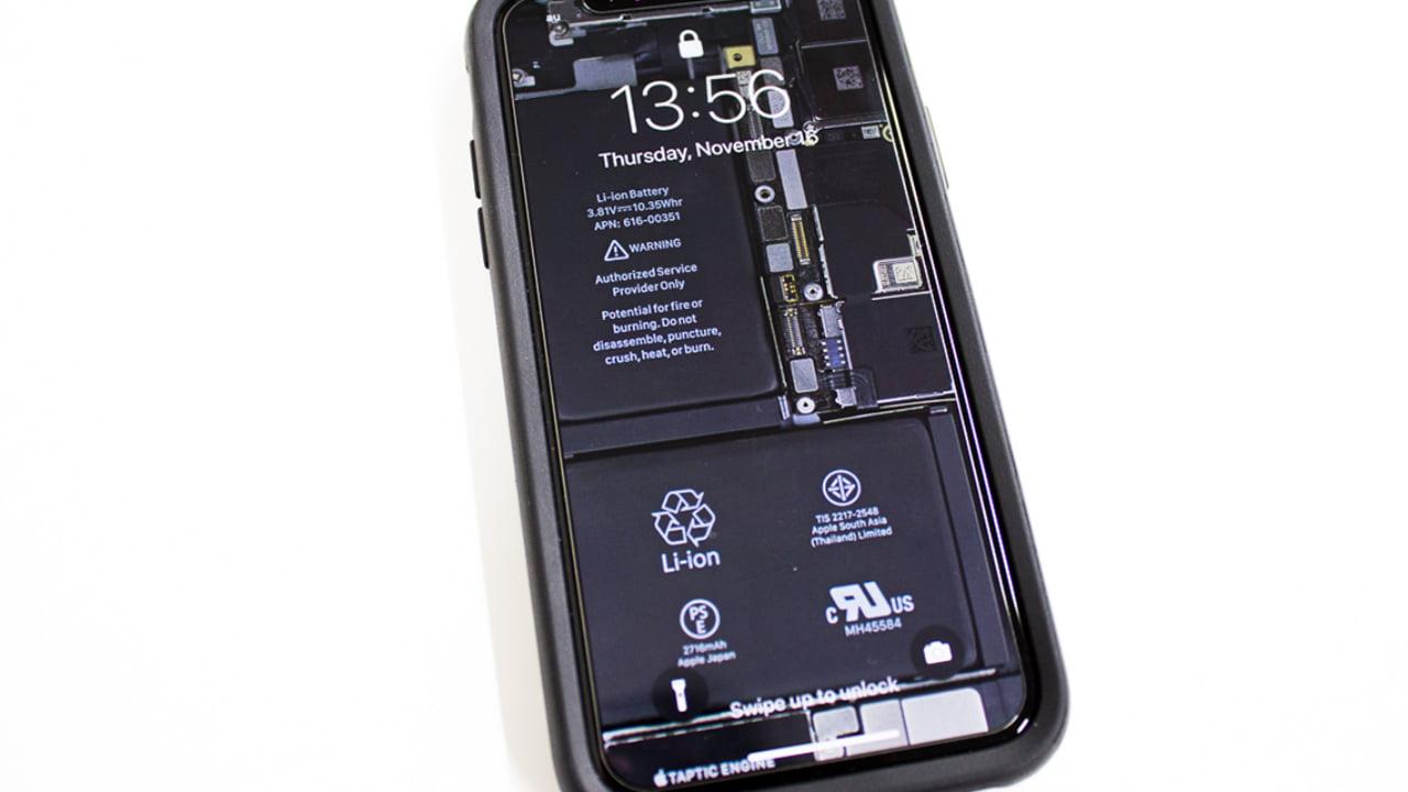 Iphone X用スケルトン壁紙 ノッチレス壁紙制作アプリも登場 Qetic