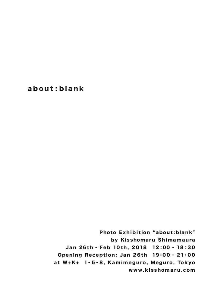 嶌村吉祥丸 写真展<about:blank>が「W+K+」にて開催!コンセプトは「about:blank(空白を表示している)」 art180112_kisshomaru_6-700x933