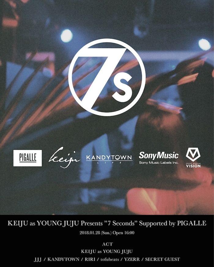 KEIJU as YOUNG JUJUローンチパーティーにtofubeats、JJJ、YZERR、RIRIの4組が出演決定! music180110_7seconds_02-700x872