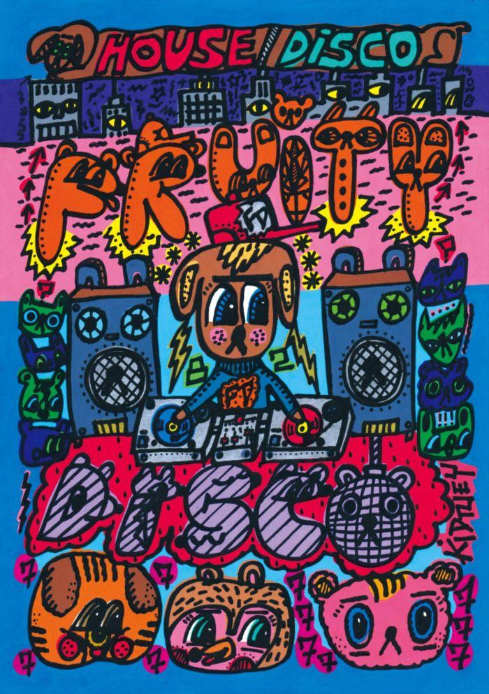 ベースメント・ジャックスのジャケ写も手がけるロブ・キドニーの個展<FRUITY DISCO>が開催! art180207_robkidney_01-700x993