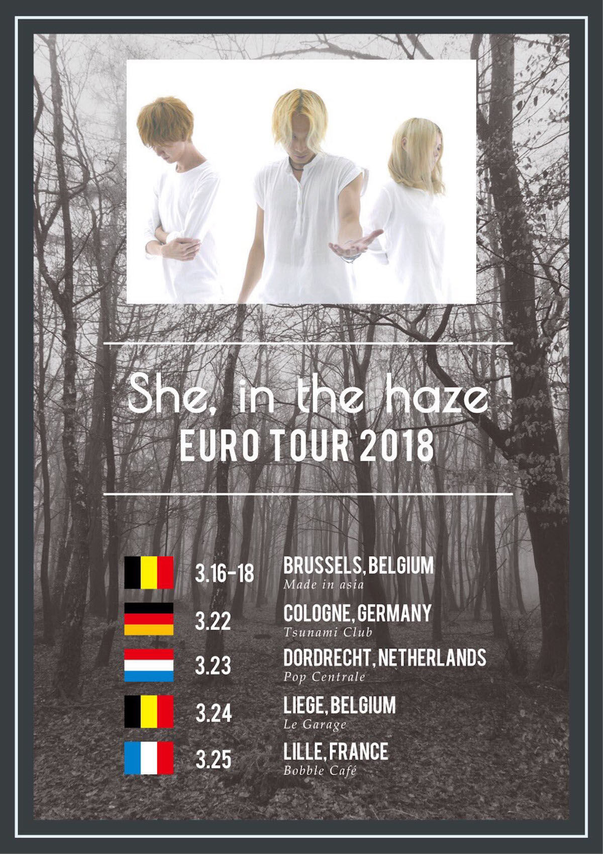 She, in the haze、ヨーロッパツアー決定!白き狂気を身にまとったクリエイター集団 music180214_sheinthehaze_3-1200x1700