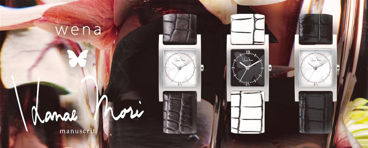 普通にオシャレな腕時計だけど、実は便利機能満載!wena × Hanae Mori manuscritのスマートウォッチ登場! technology180417_wena-hanae_mori_1-1200x485