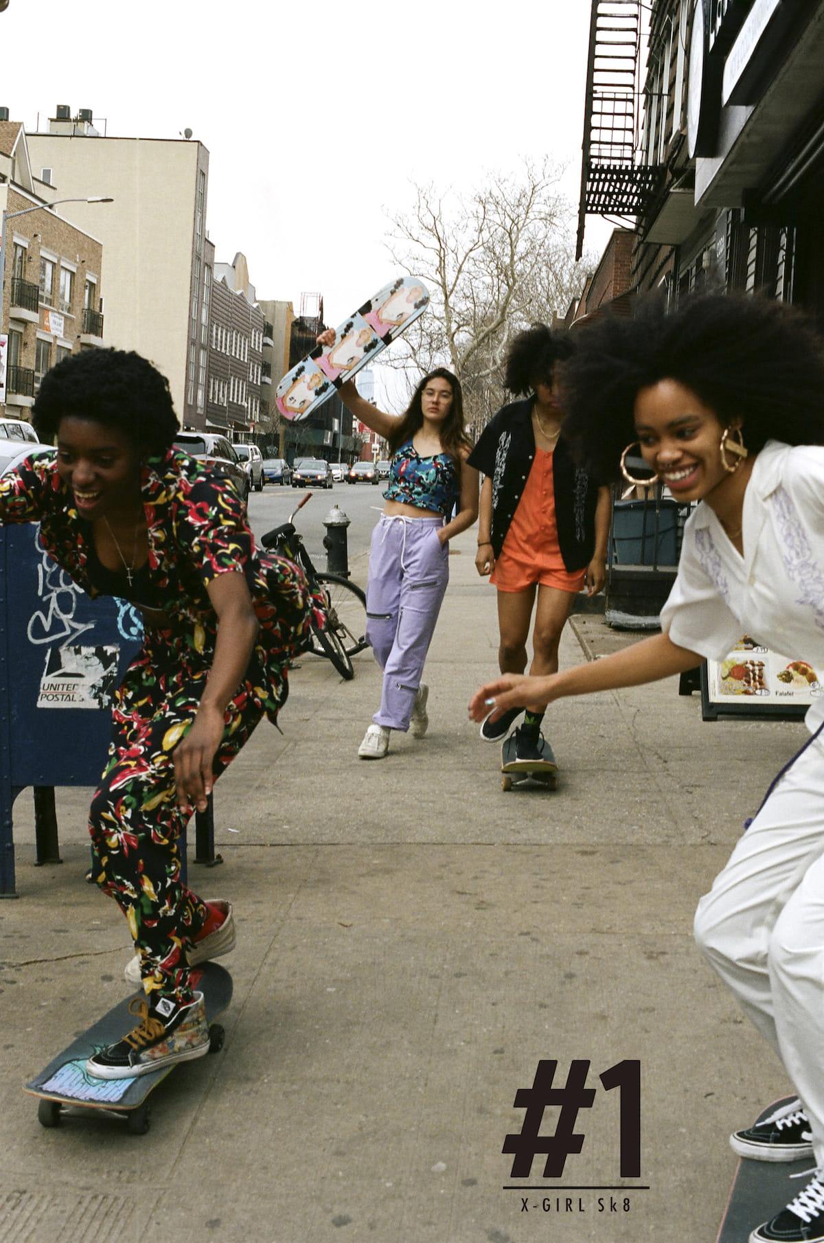 X-girl、ブランド初となるスケートボードウエアライン『#1 X-girl skateboards』が登場! fashion180525_x-girl_1-1200x1810
