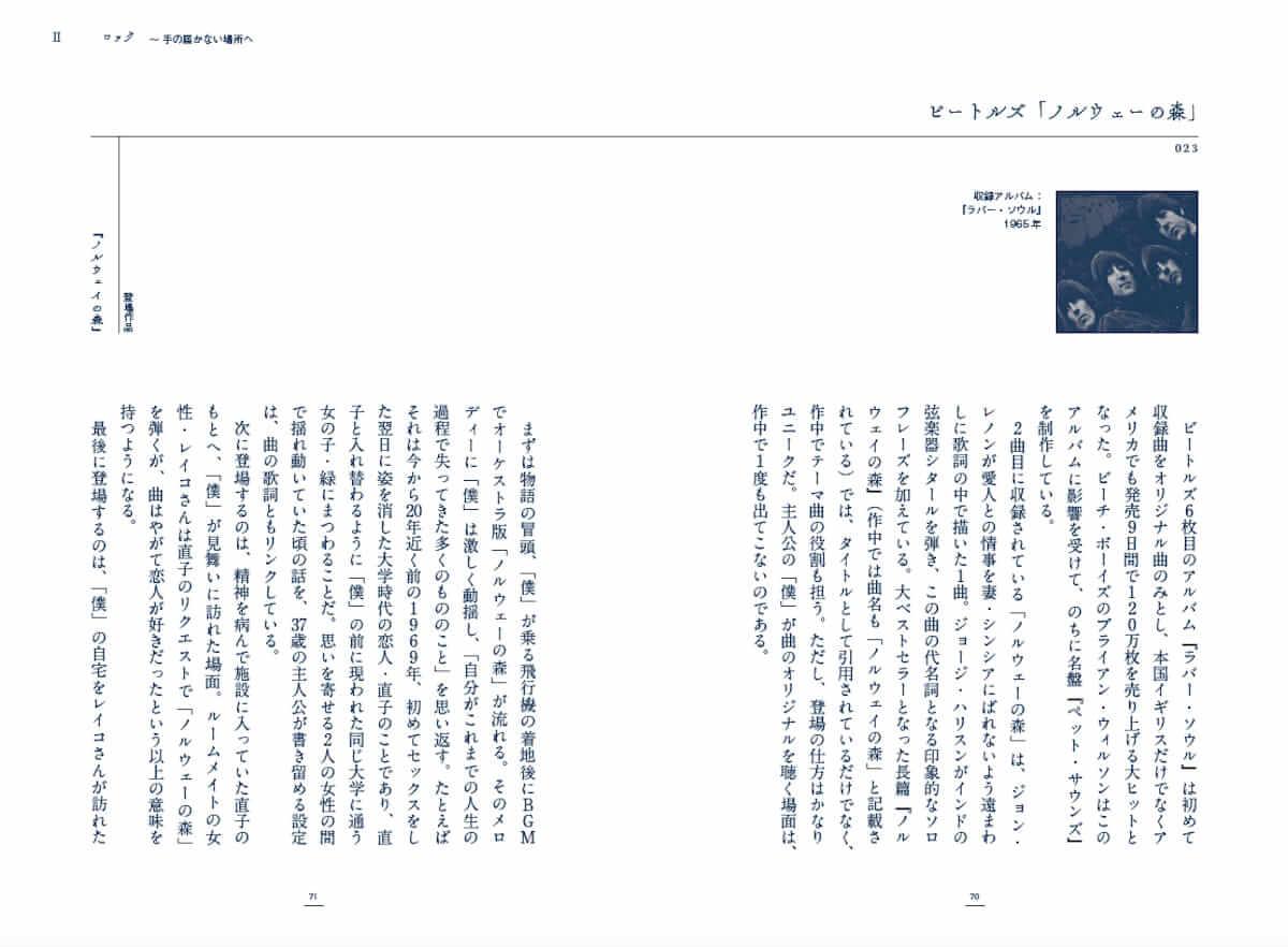 村上春樹作品に登場する楽曲を分析した解説本『村上春樹の100曲』が発売!ビートルズ、ビーチ・ボーイズなどが解説! cluture180619_murakami_2-1200x882