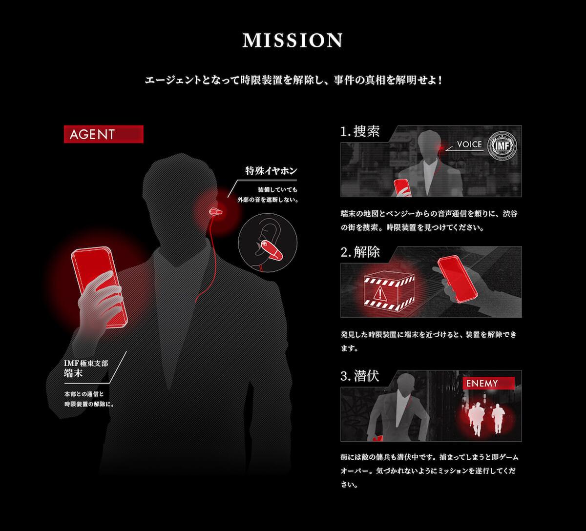 映画『ミッション:インポッシブル』の世界を体感!音声ARスパイゲームイベント<渋谷フォールアウト>開催 film180613_missionimpossible_03