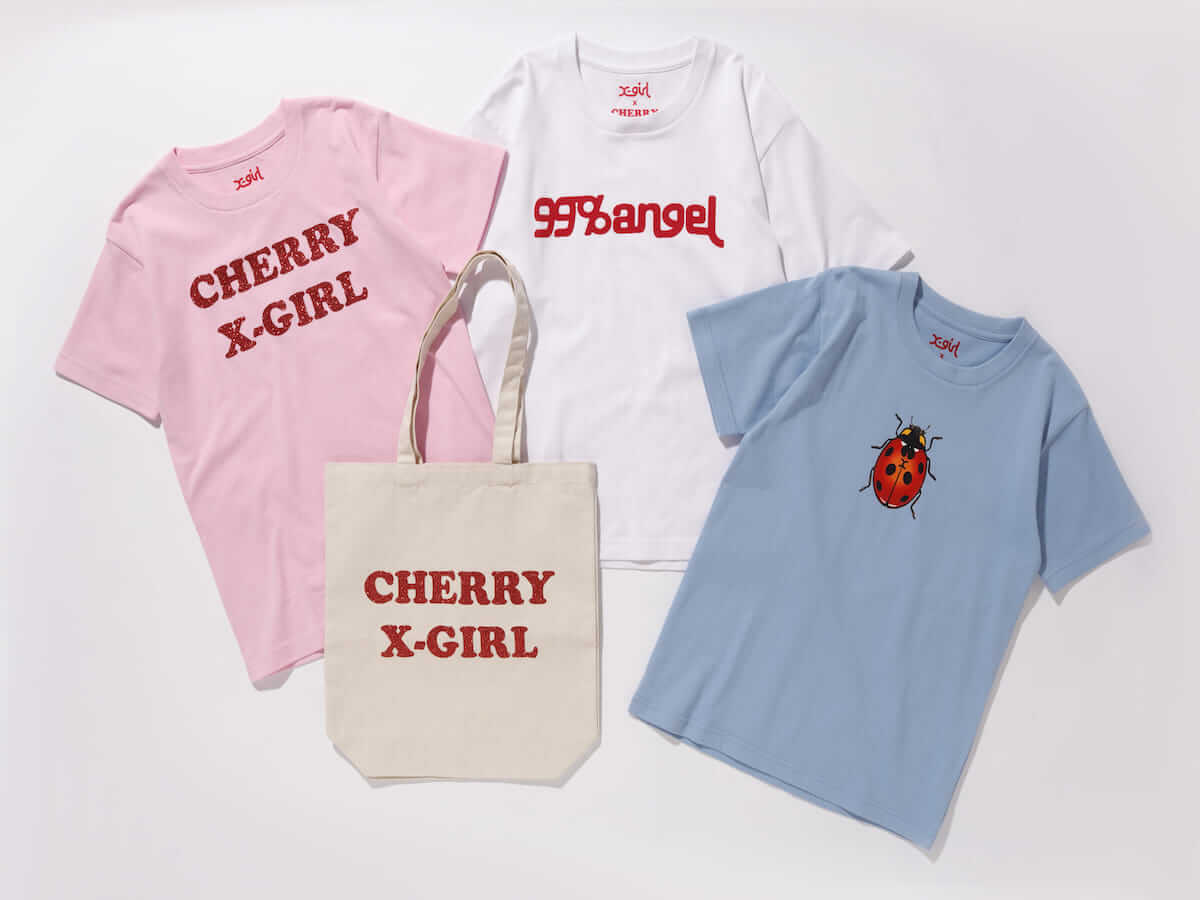 X-girl×ヴァナ・ヤングスタイン ガーリーなオリジナルプリントの入った初コラボTシャツが登場! lifefashion180619_X-girl_onitsuka_11-1200x900