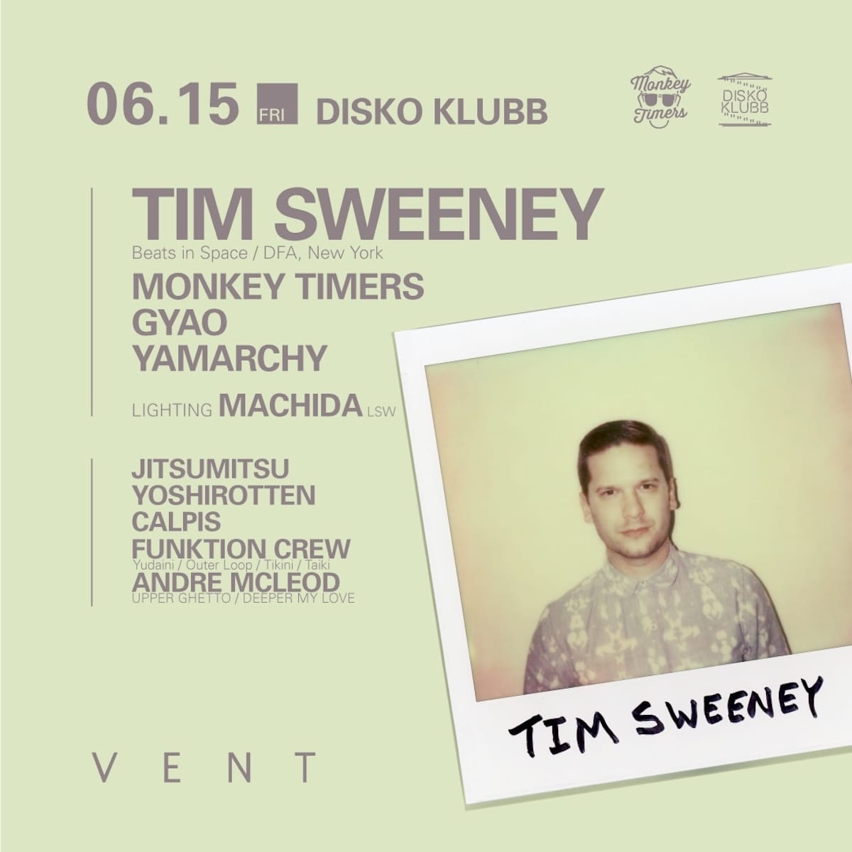 超大物ゲストが登場するNY人気ラジオの首謀者にして、DFA所属世界屈指のセレクターTim SweeneyがVENTに登場 music180606_timsweeney-3-1200x1200