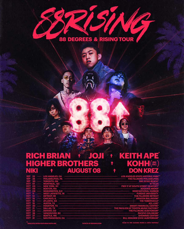 88rising主催の北米ツアー全箇所に、スペシャルゲストとしてKOHHが参加決定 music180618_88rising_small-1200x1500
