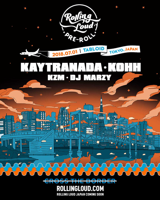 世界No.1のヒップホップフェス「Rolling Loud」が7月に日本初上陸│KAYTRANADAやKOHH、kZm、DJ MARZYの出演が決定 music180618_rolling-loud-japan-2018-pre-roll-5-1-1200x1500