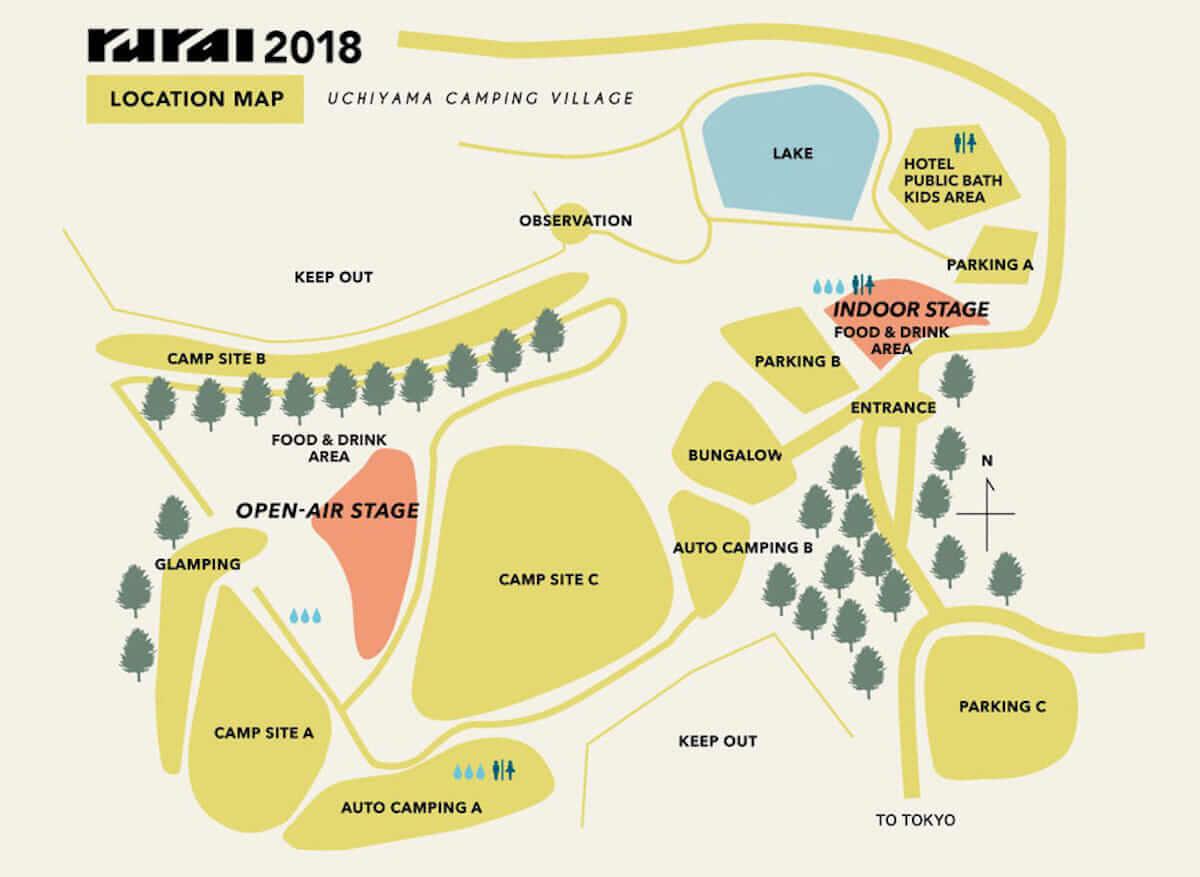 「rural 2018」のタイムテーブル&エリアマップが公開! music180626_rural2018_4-1200x877