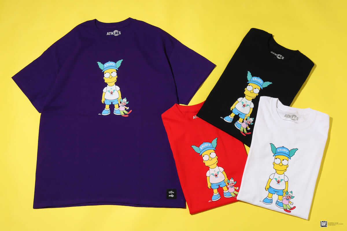 ザ・シンプソンズ×ATMOSコラボ第3弾「KRUSTY COLLECTION」登場! fashion180721_simpsons-atmos_1-1200x800