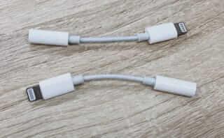 iPhone Lightning - 3.5 mmヘッドフォンジャックアダプタ