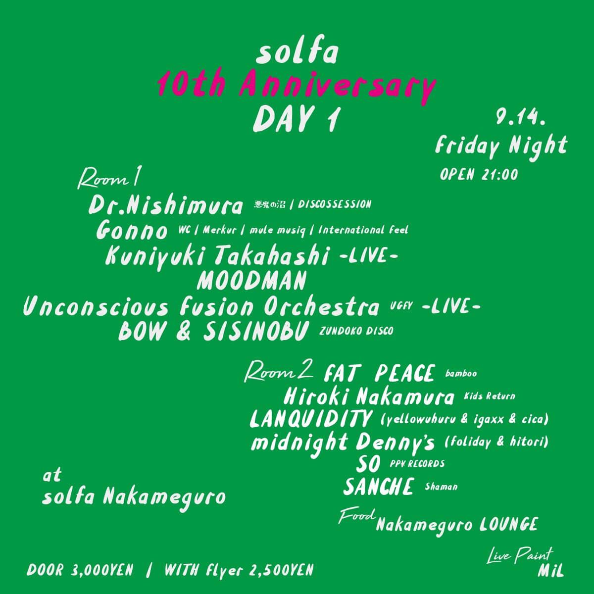 中目黒solfaの10周年アニバーサリーイベントが4日間に渡り開催|FNCYやGonno、OLIVE OIL、Chilly Sourceらが登場 music180906-solfa-10th-anniversary-9