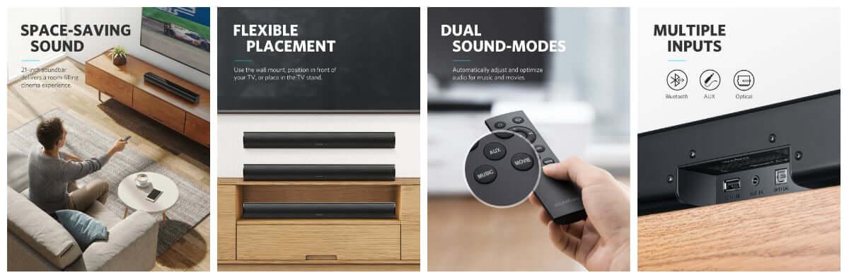 Anker、初のサウンドバーが登場!Bluetoothスピーカーとして使えるリビンングにほしい1台! technology180905_anker-soundcore_2-1200x396