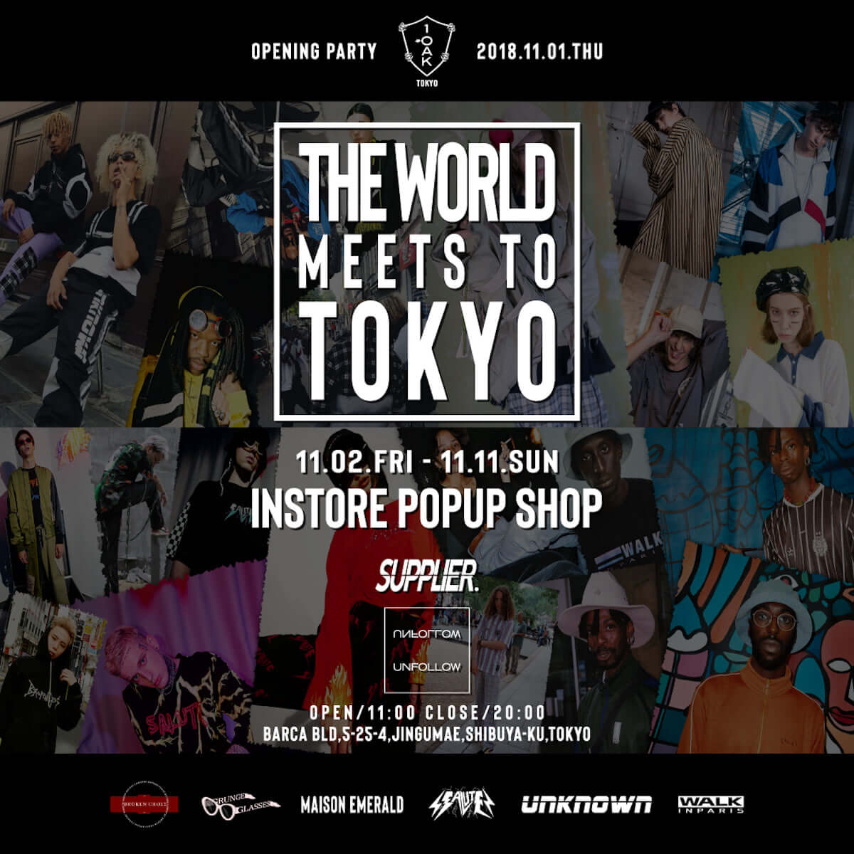 SUPPLIER×UNFOLLOWがPOP UP SHOP<THE WORLD MEETS TO TOKYO by SUPPLIER>を渋谷で開催!! lifefashion181030_SUPPLIER_01-1200x1200