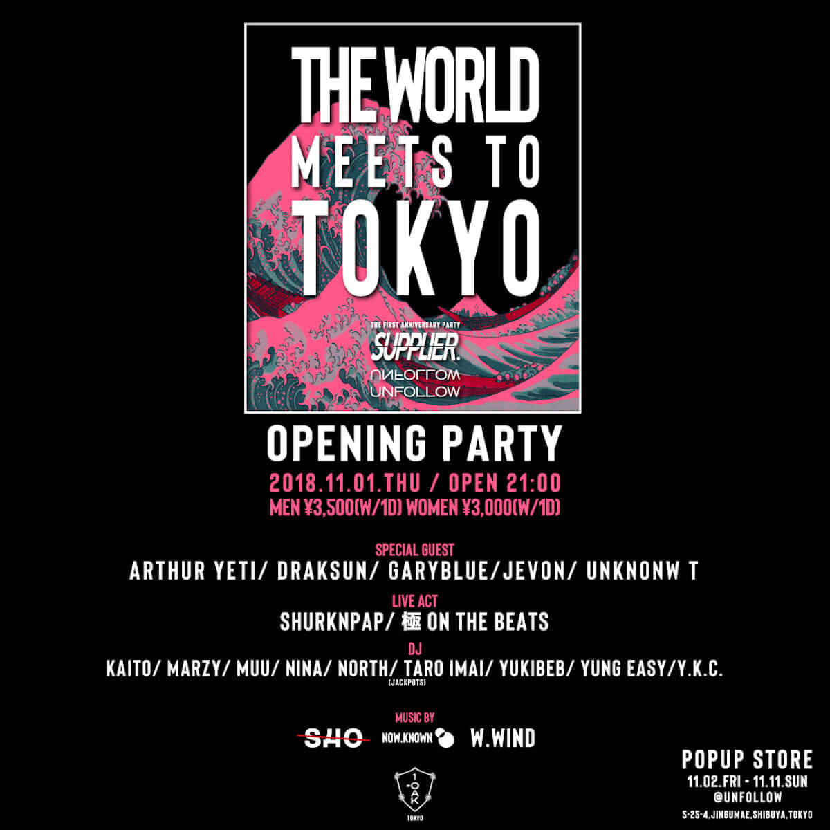 SUPPLIER×UNFOLLOWがPOP UP SHOP<THE WORLD MEETS TO TOKYO by SUPPLIER>を渋谷で開催!! lifefashion181030_SUPPLIER_02-1200x1200
