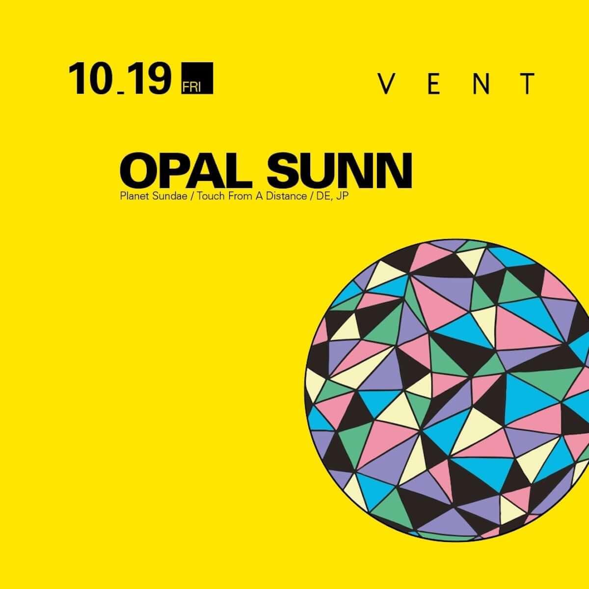 Opal Sunnの来日公演がVENTで開催|MayurashkaやMari Sakurai、N.O.S.クルーも登場 music181016-opal-sunn-3-1200x1200