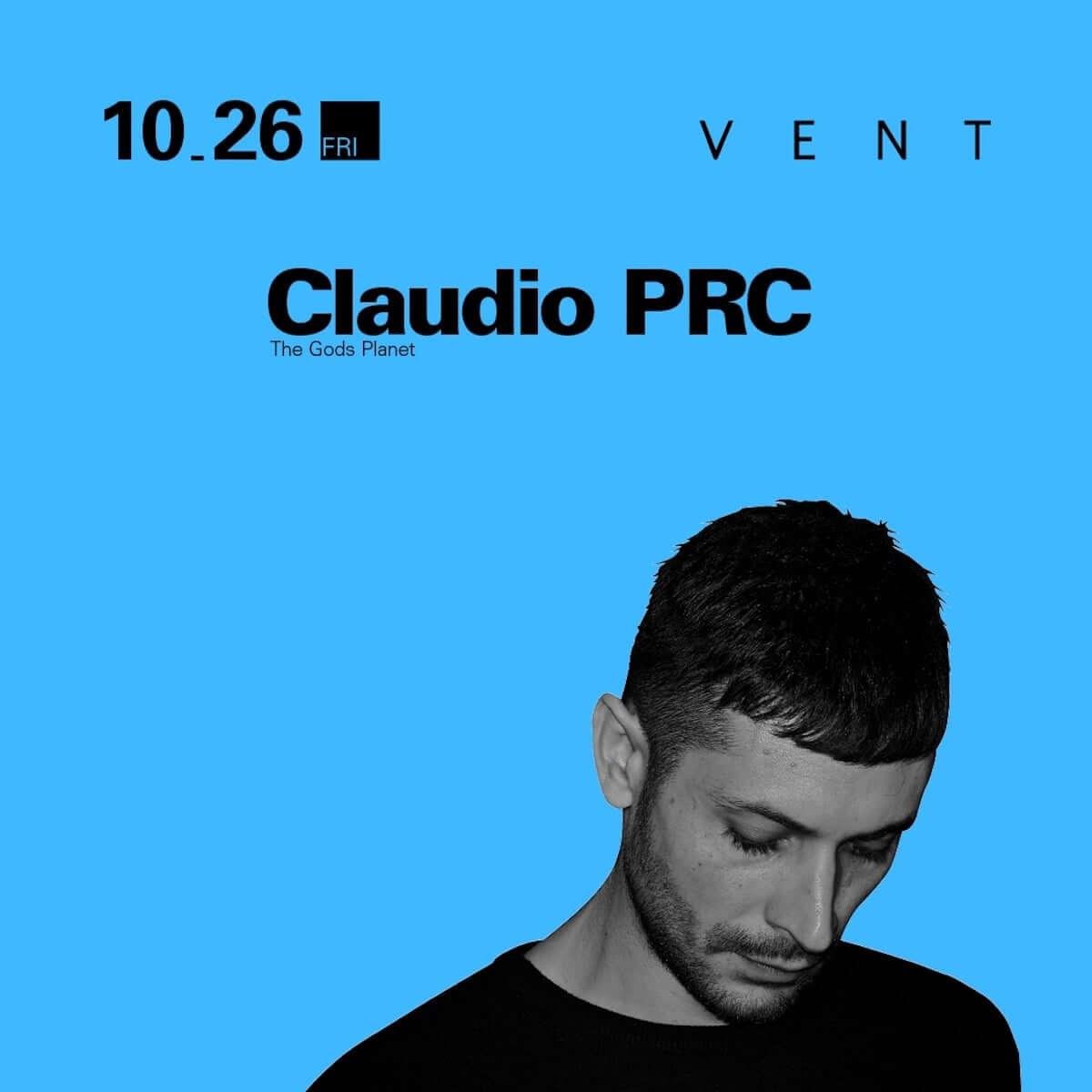 新世代のディープミニマリスト代表格、Claudio PRCがついにVENTへ降臨! music181023-vent-claudio-prc-3-1200x1200