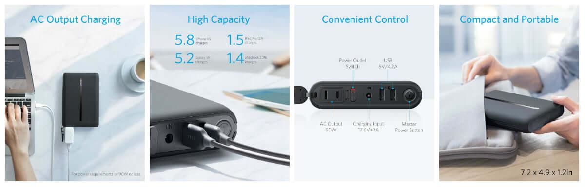 AnkerよりAC出力対応の単行本サイズモバイルバッテリー登場! technology181002_anker_2-1200x384