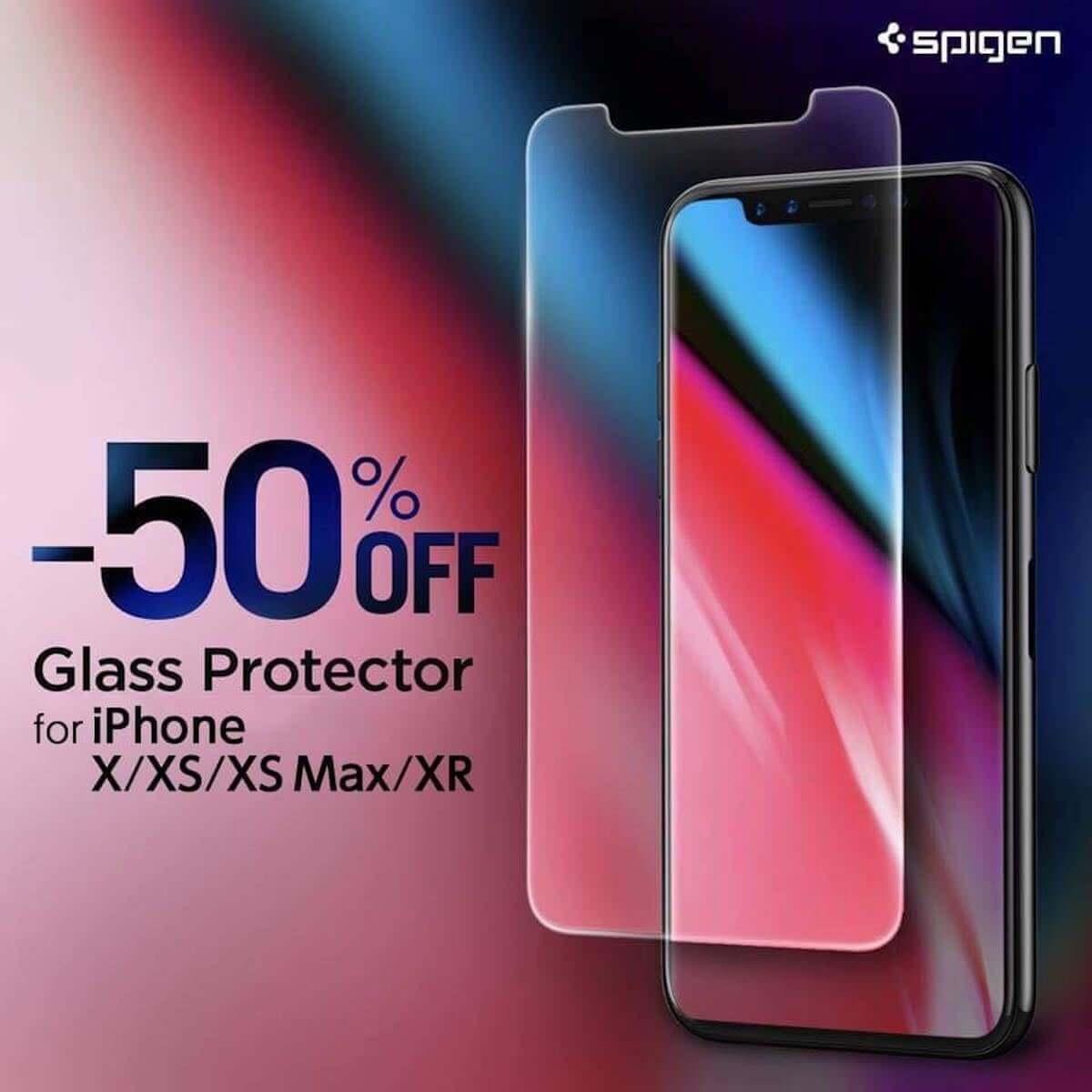 iPhone XR発売記念!Spigenの硬度9H、薄さ0.4mmガラスフィルムが期間限定で半額! technology181026_spigen_1-1200x1200