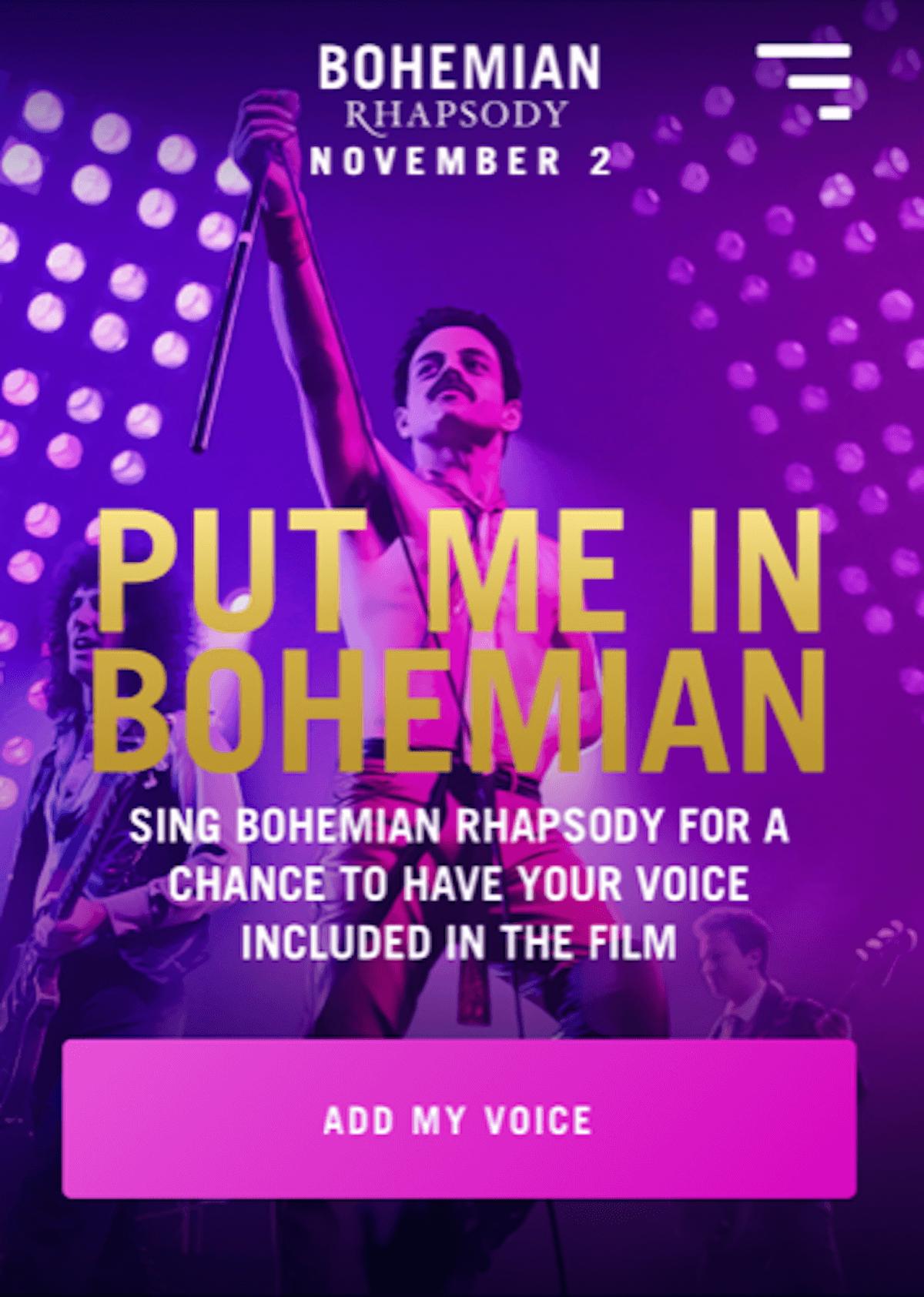 クイーンの伝記映画『ボヘミアン・ラプソディ』、自分の声が使われるキャンペーンを実施中! film180611_queen_3-1200x1685
